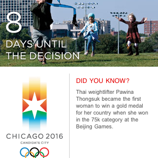 8 days until Chicago 2016 Olympics selection