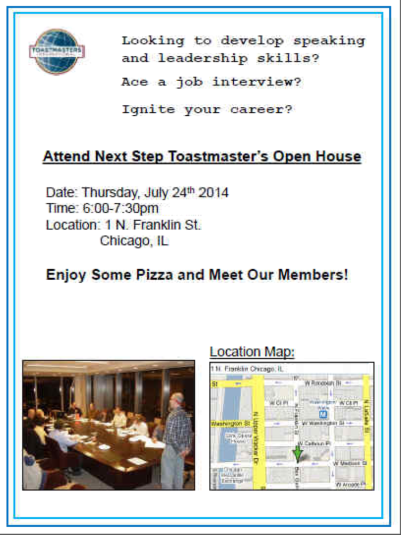 Next Step Open House Flyer